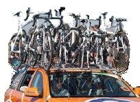 Rent bicycle roof rack team car
